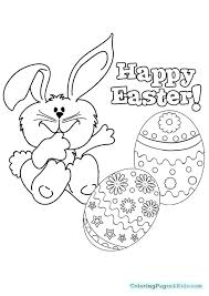 Happy Easter Coloring Pages Saying To Grandpa Printable