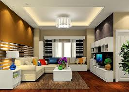 modern living room with ceiling light interior design