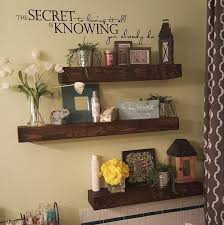 Rustic Style Floating Shelves