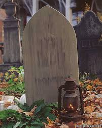 Diy Halloween Wood Tombstones by Tombstone Yard Halloween Decorations Martha Stewart