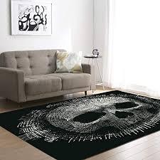 de zdstore totenkopf schlafzimmer teppich schwarz
