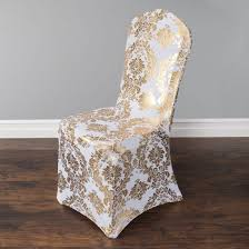 Gold Metallic Damask Stretch Banquet Chair Cover ... Chiavari Chairs Vs Chair Covers With Flair Gold Hug Cover Decor Dreams Blackgoldchampagne Satin Chair Covers Tie Back 2019 2018 New Arrival Wedding Decorations Vinatge Bridal Sash Chiffon Ribbon Simple Supplies From Chic_cheap Leatherette Quilted Fanfare Chameleon Jacket Medallion Decoration Package 61 80 People In S40 Chesterfield Stretch Spandex Folding Royal Marines Museum And Sashes Lizard Metallic Banquet Silver Outdoor