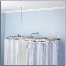 J Queen Valdosta Curtains by Sunrise Curved Corner Mounted Shower Curtain Rod U2022 Shower Curtain