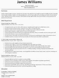 Fresh Sample Medical Assistant Resume Awesome Graduate Template Examples