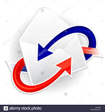 Symbol of in ing and outgoing mail Stock Alamy