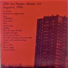 Smashing Pumpkins Setlist 1996 by Patrick U0027s Reviews Smashing Pumpkins Adore Reissue Dvd