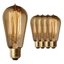 4 pack fashion edison light bulbs five 60w