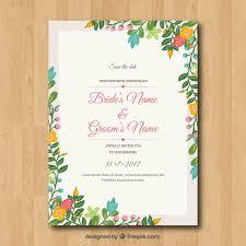 cadre photo mariage gratuit invitation de mariage avec cadre floral télécharger des vecteurs