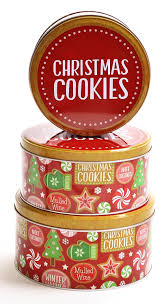 Spode Christmas Tree Cookie Jar by Amazon Com Christmas Nested Cookie Tins Round Set Of 3
