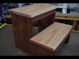 Wooden Step Stool Plans Free by How To Make A Step Stool Woodlogger Com Youtube