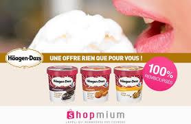 shopmium vous offre un gros pot de glace häagen dazs les bons