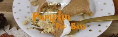 Power Crunch Salted Caramel Pumpkin Pie Bars