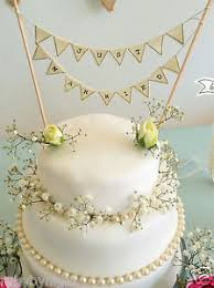 Image Is Loading Just Married Bunting Cake Topper Ivory Vintage Shabby