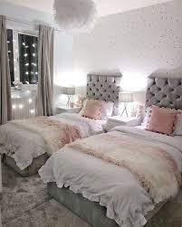 grau und rosa geteilt mädchen schlafzimmer geteilt
