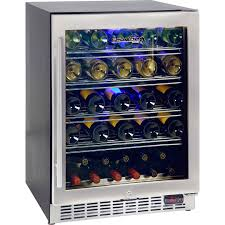 Glass Door Under Bench Quiet Running Wine Fridge Front Venting