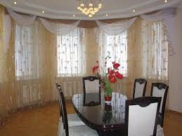 Contemporary Kitchen Curtain For Bay Windows
