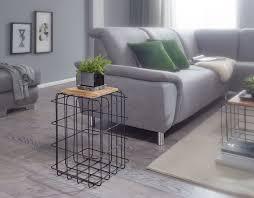 beistelltisch 35x52x35 cm mango massivholz metall dekotisch industrial style echtholz tischchen wohnzimmer holztisch eckig anstelltisch mit