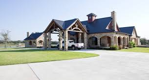 Rustic Timber Frame Home On TX Ranch Traditional Exterior