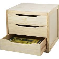 boite a tiroirs en bois bloc tiroir pin l 39 x p 30 x h 29 5 cm leroy merlin