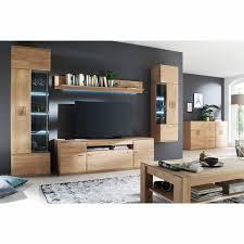 modernes wohnzimmer tv lowboard badalona 05 in eiche bianco massiv mit kabeldurchlass b h t 180 58 50cm
