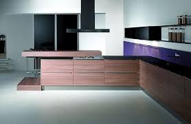 l form küche mit esstheke und hochschränken aus laminat