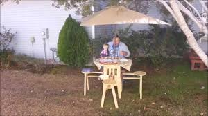 incredible folding picnic table youtube