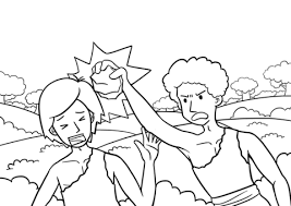 Click To See Printable Version Of Cain Slaying Abel Coloring Page