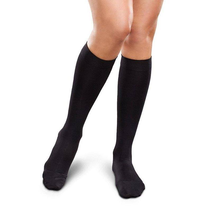 Therafirm Ease Opaque Women's 15-20 mmHg Knee High Medium Short / Black