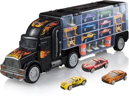 100 Toy Car Carrier Truck WolVol Transport Rier For Boys And Girls Includes 6 Cars And 28 Slots
