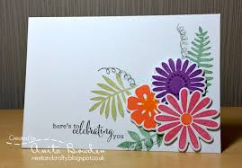 Colourful Flowers Birthday Card
