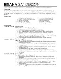 Driver Sample Resume Pizza Delivery Drivers Uae