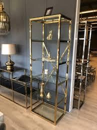 regal gold metall glas bücherregal silber glas metall glas