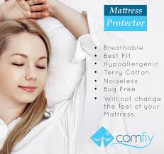 Dust Mite Bed Covers by Comfiy Mattress Protector Hypoallergenic Bed Cover Against Leaks