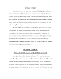 INTRODUCTION 500 WORD ESSAY ON WHAT WAS THE CAUSE