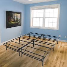 platform metal bed frame foldable no box spring needed mattress