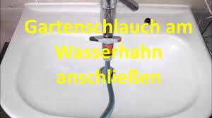 gartenschlauch am wasserhahn im bad anschließen