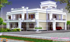 Decorative Single House Plans by Decorative Flat Roof House Kerala Home Design And Floor Plans