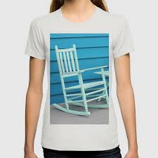 Coastal Beach House Art - Blue Rocking Chair - Sharon Cummings T-shirt Costway Outdoor Rocking Lounge Chair Larch Wood Beach Yard Patio Lounger W Headrest 1pc Fniture For Barbie Doll Use Of The Kids Beach Chairs To Enhance Confidence In Wooden Folding Camping Chairs On Wooden Deck At Front Lweight Zero Gravity Rocker Backyard 600d South Sbr16 Sheesham Relaxing Errecling Foldable Easy With Arm Rest Natural Brown Finish Outdoor Rocking Australia Crazymbaclub Lovable Telescope Casual Telaweave