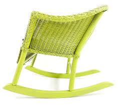 Vintage Wicker Rocker Painted In A Bright Lime Green