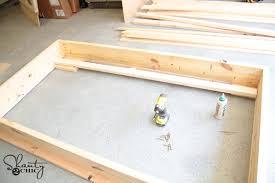 diy twin platform chevron bed shanty 2 chic