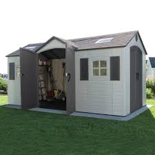 15 x 8 ft outdoor storage shed dual entry