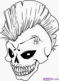 More 6 Scary Skeleton Coloring Pages About Skull Download All Of These For Kids To Help Them Have Crazy Ideas On Next Halloween