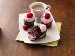 Mini Raspberry Filled Chocolate Cupcakes