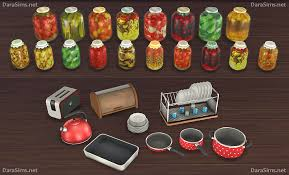 My Sims 4 Blog Kitchen Clutter And Food Decor By Dara
