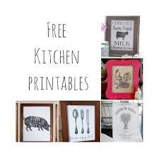 Free Kitchen Printables Farmhouse Decor