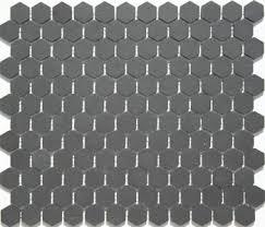 lyric unglazed porcelain hexagon mosaic tile in black