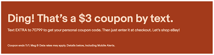 EBay/US] $3.00 Off $3.01 Or More (until Until 11:59 PM PT, 1 ...