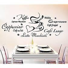 wandora wandtattoo kaffeesorten tasse i schwarz bxh 120 x 45 cm i küche esszimmer cappuccino espresso sticker aufkleber wandaufkleber wandsticker
