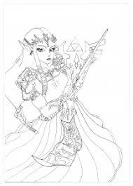 Coloring Manga Zelda Krissy Free To Print Page Of The Princess