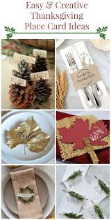 10 Creative Easy Thanksgiving Place Card Ideas
